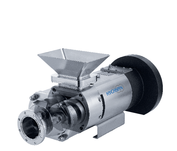 Jung twin screw pump for conveying non-flow capable products